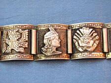 VINTAGE PERU STERLING 925 WATCHBAND BRACELET Silver PERUVIAN #2