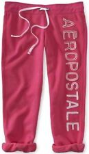 NEW Aeropostale Womens Pink Vertical Heritage Capri Lounge Sweat Pants Sz Small