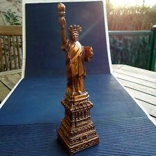 Sculpture Reproduction Bronze Régule Cuivré Statue de la Liberté 25x6 Cm 352 Grs