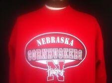 Nebraska Cornhuskers Sweatshirt Football Red Cotton Blend Long Sleeves Mens XL