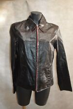 BLOUSON VESTE CUIR REDSKINS TAILLE XL/42 GIACCA/CHAQUETA/JACKET LEATHER TBE