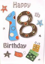 "Fun & Modern ""18th"" Birthday Cards ~ Star's & Number"