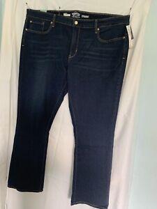 Denizen By Levi's Woman Straight Leg Jeans Sz 26w New (A283)