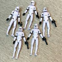 "5Pcs Star Wars No.5 Clone Trooper 3.75"" Action Figure The Clone Wars Toys Gift"