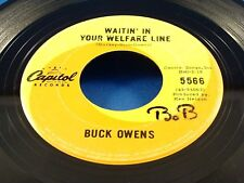BUCK OWENS - Waitin' In Your Welfare Line / In The Palm Of Your Hand - 1966 VG+