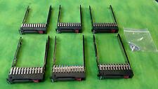 "HP Proliant 2.5"" HDD SATA/SAS Tray/Caddy G5 G6 G7 w/ Screws 6 PCS 378343-002"