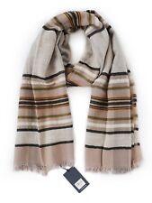 Lucky Brand Women/'s NWT$79 Brown//Teal//Yellow Tartan Plaid Acrylic Blanket Scarf