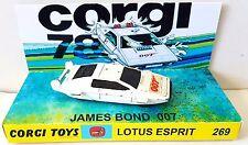 Corgi Jnr JAMES BOND 007 LOTUS ESPRIT Diecast Model Car & Custom 269 Display [d]