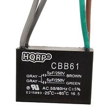 HQRP Capacitor para Hampton Bay de Ventilador 5uf+5uf 4-Alambres CBB61 Reemplazo