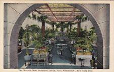 Postcard World's Most Beautiful Lobby Hotel Commodor New York City NY