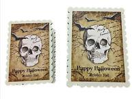Happy Halloween Skull October 31st Decorative Trinket Boxes Set of 2