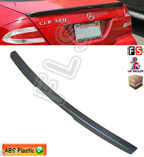 MERCEDES CLK C209 W209 AMG STYLE REAR TRUNK BOOT LIP SPOILER 03-09 MATT BLACK