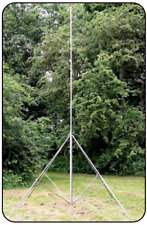 Quadpod Steel Telescopic Mast 30ft 9m Push-up with legs. Heavy Duty Radio Tower