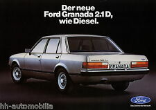 Ford Granada 2.1 D Diesel Prospekt 1978 Autoprospekt Broschüre brochure