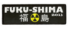 Patch Ecusson brodé patche FUKUSHIMA 2011 Nucleaire thermocollable badge