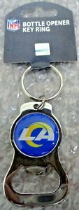 🏈 NEW LOGO 🏈 Los Angeles Rams Metal Key chain Bottle Opener NFL Football 🎁