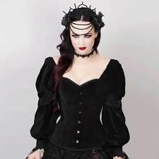 Vintage Goth Milady terciopelo-corsé con mangas la edad media Gothic Velvet corset