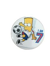 Aged 7 7th Bart Simpson Birthday Badge