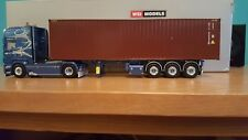 WSI SCANIA R6 TOPLINE4X2 CONTAINER TRAILER 3 AXLE SCALE 1.50