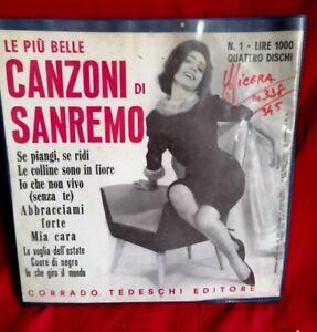 Le più belle canzoni di SANREMO BOX di 4 dischi 45rpm 7' + PS 1965 ITALY