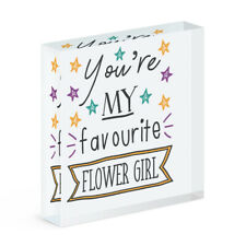 You're My Favourite Flower Girl Stars Acrylic Photo Block Frame Funny Wedding