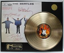 The Beatles - Gold LP Record Display With Reprinted Autographs - Limited Edition