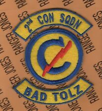 US Army 2nd Constabulary Squadron BAD TOLZ Germany patch tab set