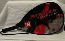 "Ripper Titanium Wilson 22"" Stretch Longer for More Power Cliff Swain Racket XS"
