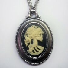 Real Metal Jewelry	Classic Skeleton Cameo Necklace