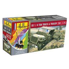 Heller 1/72 US 1/4 Ton Truck & Trailer Gift Set # 56997