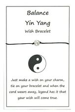 2 x Wish String Bracelet or Anklet - Balance - Yin Yang Charm Handmade W003