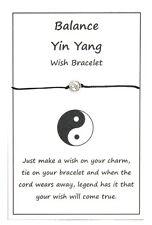 2 x Wish String Bracelet or Anklet - Balance - Yin Yang Charm Handmade W003