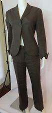 RENE LEZARD 3 piece  brown linen pant skirt french cuffs suit size 34/36