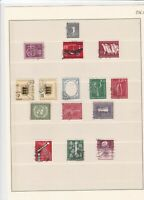 germany 1955/56 used stamps sheet ref 17839