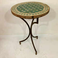Mosaic Table Morocco Side Table Green Tea Table Flower Table Vintage Antique