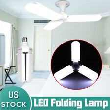 45W E27 Ceiling Fan LED 3 Blade Light Bulb Foldable Lamp Cool White 3200lm 6500K