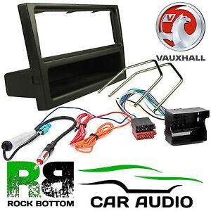 VAUXHALL VIVARO VAN 2004 On Car Stereo Radio QUADLOCK Fascia Kit BLACK PANEL