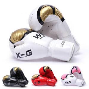 Kick Boxing Gloves for Men Women PU Karate Muay Thai Free Fight  Sanda Training