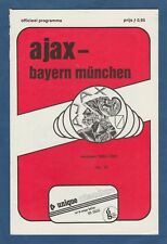 Orig.PRG   UEFA Cup  1980/81   AJAX AMSTERDAM - BAYERN MÜNCHEN  1/8 FINALE  !!