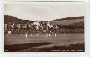 CRICKET, WHITESTONE PARK AND HYDRO, PEEBLES: Peeblesshire postcard (C61552)