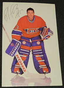1991-1992 - MONTREAL CANADIENS PATRICK ROY - NHL - AUTOGRAPH POSTCARD - ORIGINAL