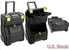 Stanley Mobile Work Center Box Cabinet Storage Large Bin Power Tools Portable