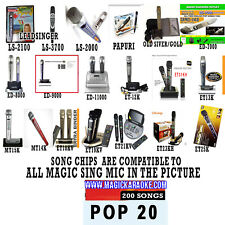 MAGIC SING MIC POP SONG CHIP POP 20 200 SONGS ALSO WORKS WITH 2019 ET23KPRO