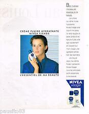 PUBLICITE ADVERTISING 055  1988  NIVEA VISAGE   cosmétiques creme fluide