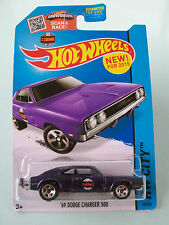 Hot Wheels 2015 HW City - '69 DODGE CHARGER 500 (Purple) #19/250 - New In Packet