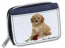 cockerpoodle + Rosa ' el amor que mamá ' Niñas/señoras Vaqueros Monedero Basha ,