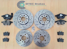 Seat Leon 1.8 20v T 00-05 Drilled Grooved Front Rear Brake Discs+Pads