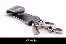 Coach Leather Valet Key Fob (Key Holder / Key Chain / Key Ring) Black: F37533