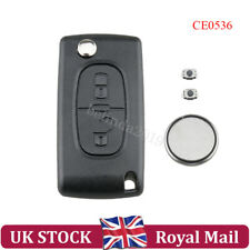 For Peugeot 307 2 Button Key Fob Remote Case Battery Repair Kit VA2 Blade CE0536