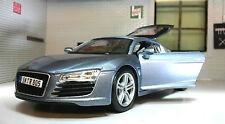 G LGB 1:24 Scala Blu Audi R8 V10 31281 Dettagliato Maisto Automodello Metallo